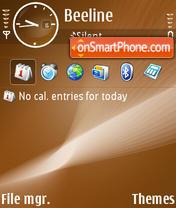Stylish Brown theme screenshot