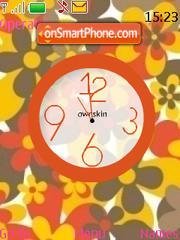 Swf Flower Clock es el tema de pantalla
