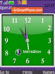 Swf Megafone Clock theme screenshot