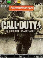 Call of Duty 4 es el tema de pantalla