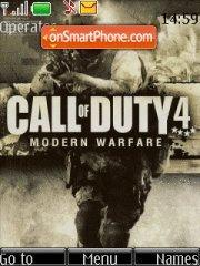 Call of Duty 4 theme screenshot