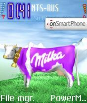 A Milka theme screenshot