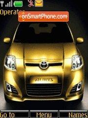 Toyota Auris theme screenshot