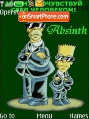 Simpsons Absent theme screenshot