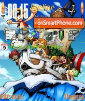 One Piece N95 theme screenshot