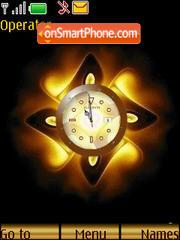 SWF golden clock theme screenshot