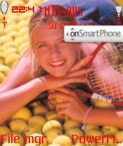 Sharapova Maria theme screenshot