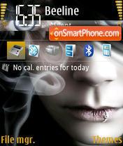 Emo girl theme screenshot