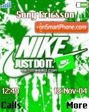 Nike Green 01 theme screenshot