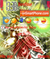 Dragon Ball theme screenshot