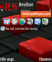 Carbon Cubes theme screenshot