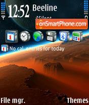 RedSunrise theme screenshot