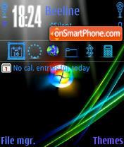 Glowing Vista es el tema de pantalla