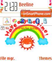 Animated Good Time theme screenshot