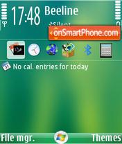 Media Center theme screenshot