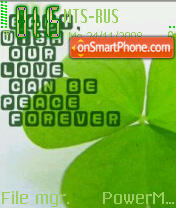 Green Forever theme screenshot