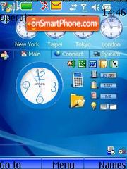 World Swf Clock theme screenshot