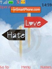 Hate Love theme screenshot