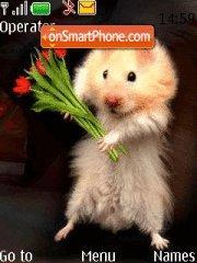 Hamster with Tulips theme screenshot