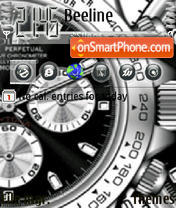 Animated Clock 06 tema screenshot