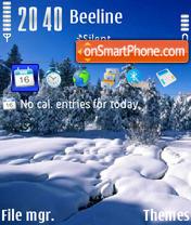 Winter v2 01 es el tema de pantalla