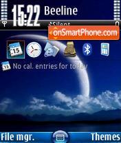 Blue Moon V1 tema screenshot