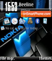 Nokia Blue V1 theme screenshot
