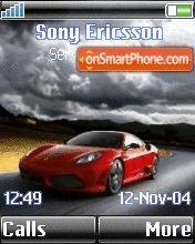 Red sport car es el tema de pantalla