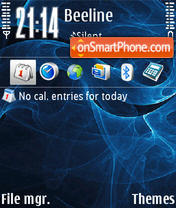 Luxury Blue tema screenshot