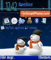 SnowMan V1 es el tema de pantalla