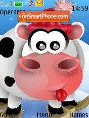 New Year Cow es el tema de pantalla