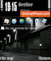 Dark street Fp2 theme screenshot