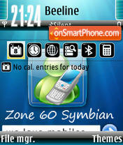 Zone Symbian theme screenshot