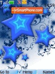 Blue Stars Abstract theme screenshot