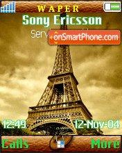 Eiffel Tower theme screenshot