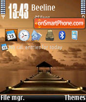 Sunset V1 tema screenshot