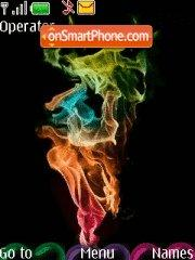 Rainbow Smoke theme screenshot
