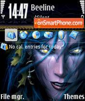 WoW Elf theme screenshot