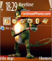 Crazy Frog 03 es el tema de pantalla