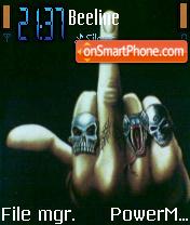 Fu-ck Finger es el tema de pantalla