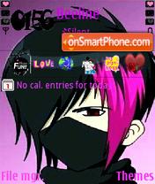 Emo boy theme screenshot