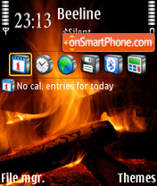 TheFireStillBurns tema screenshot