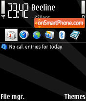 Black V1 tema screenshot