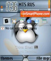 Linux Tux theme screenshot