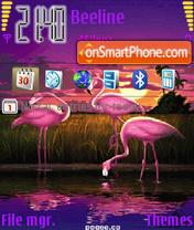 Animated Pink Pelica es el tema de pantalla