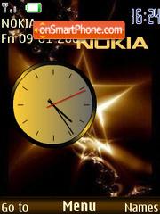 Swf Clock Nokia es el tema de pantalla