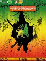 I love reggae theme screenshot