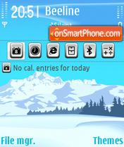 Snow Mountainje es el tema de pantalla