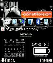 Animated Nokia Clock theme screenshot