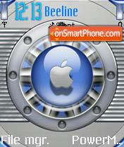 Apple Techno Blue theme screenshot